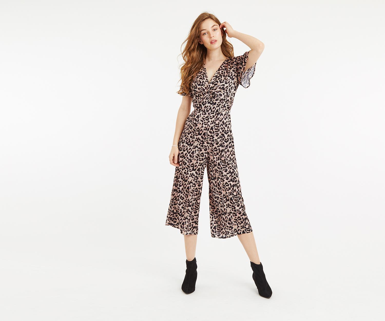 aaee022967b Oasis. Women s Leopard Culotte Jumpsuit
