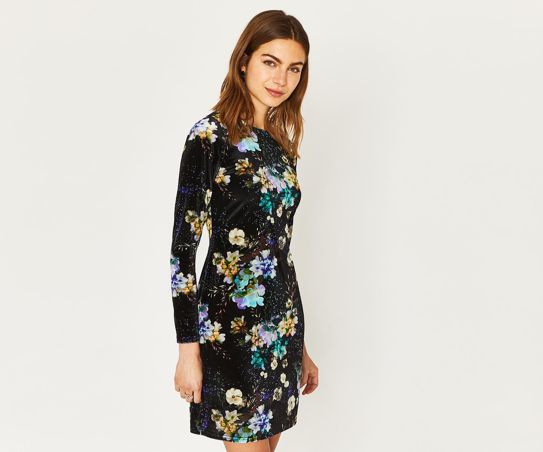 ddc100da8293 Oasis Fairytale Velvet Dress in Black - Lyst