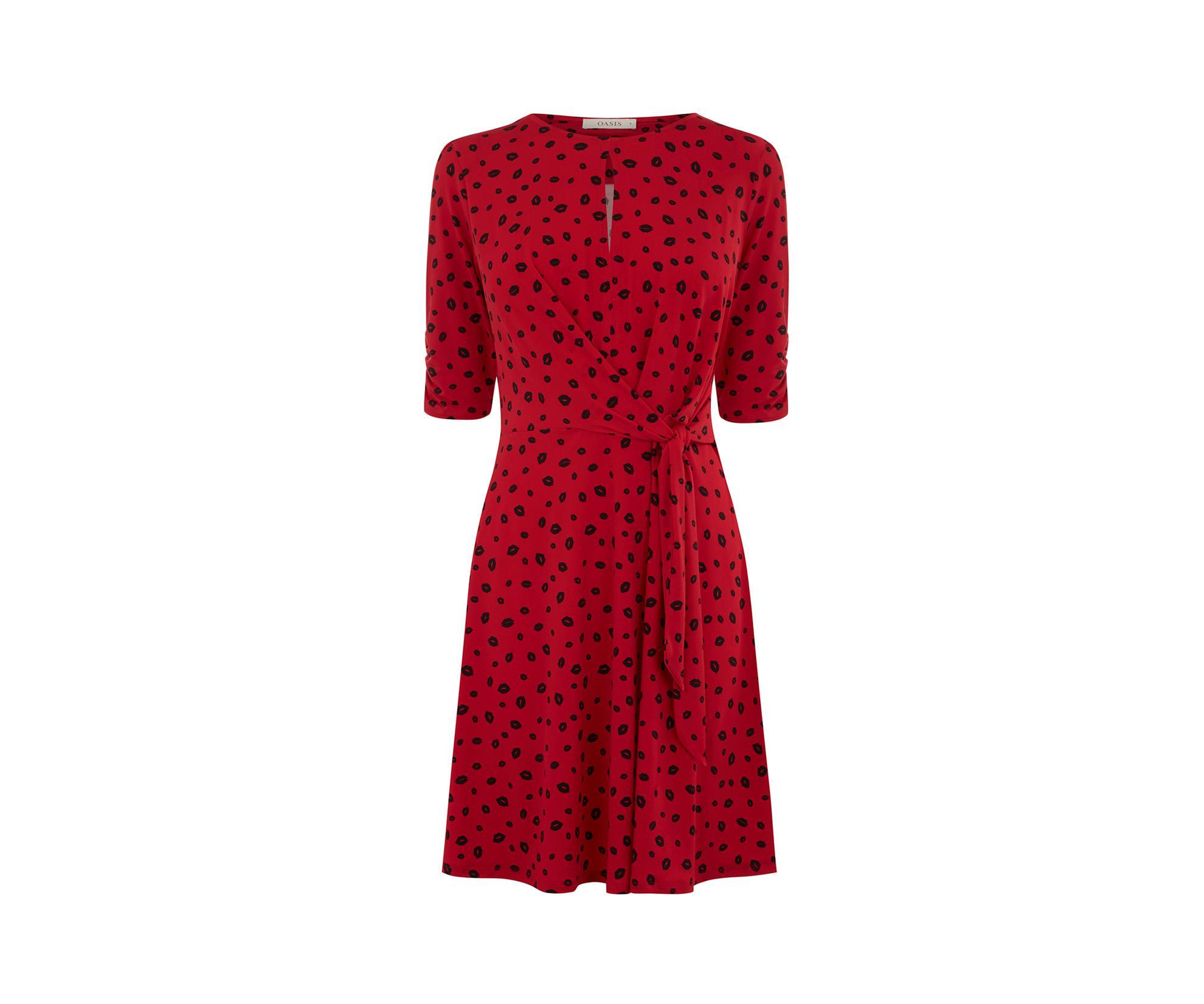 5de9f5ebbd6 ... Lip Print Ruffle Dress - Lyst. View fullscreen