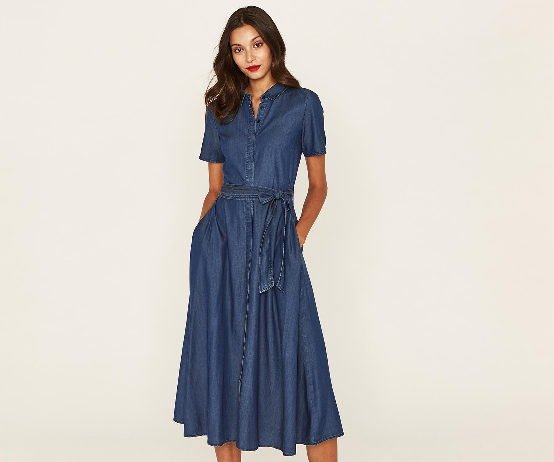 fb52fa3556bb Oasis Denim Shirt Dress - Photo Dress Wallpaper HD AOrg