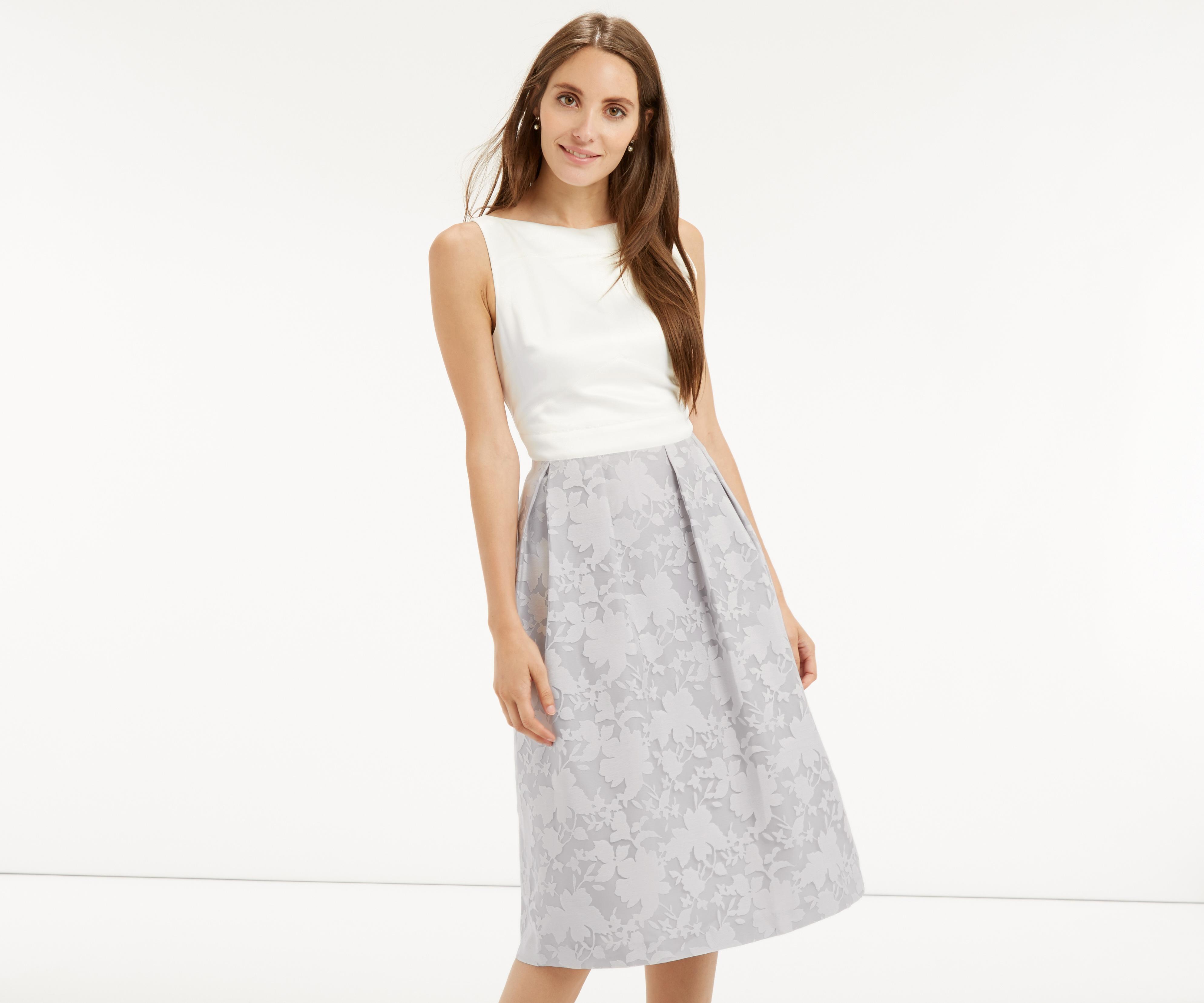 a403086997f Lyst - Oasis Organza Midi Dress in Gray