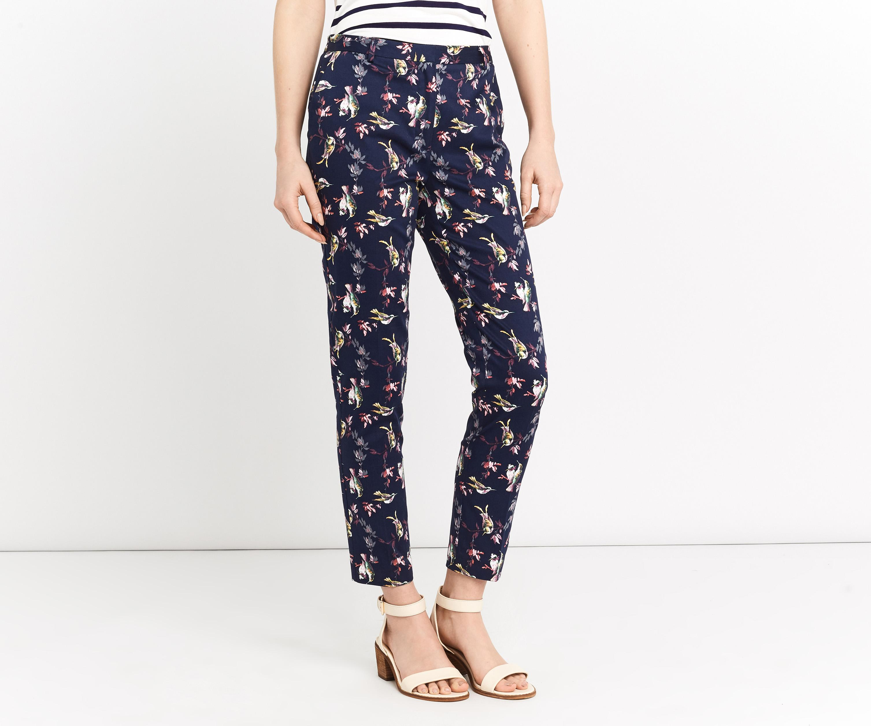 Lyst Oasis Hummingbird Print Trouser In Blue
