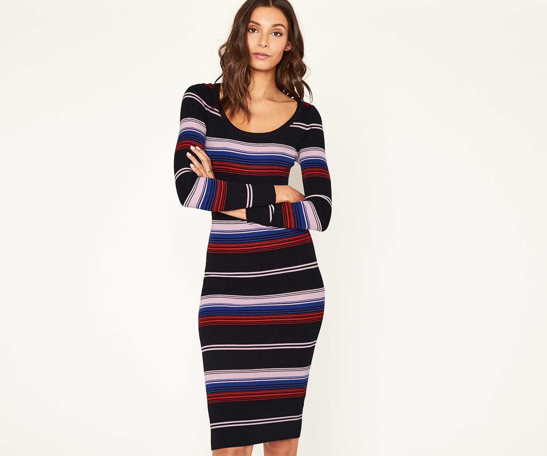 a438b44b6b Lyst - Oasis Rainbow Stripe Tube Dress in Blue