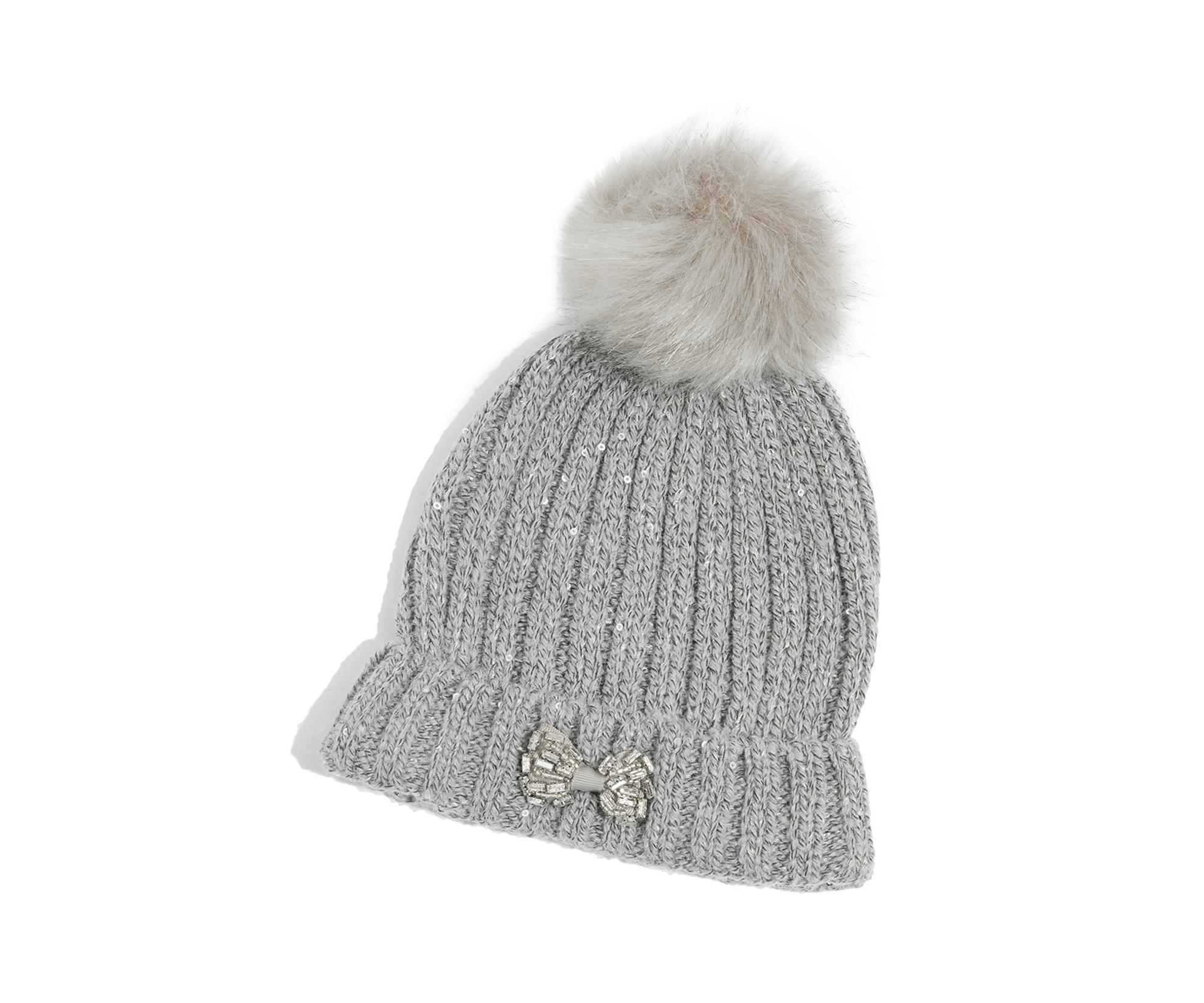 d7b37924d24 Oasis Bow Beanie Hat in Gray - Lyst