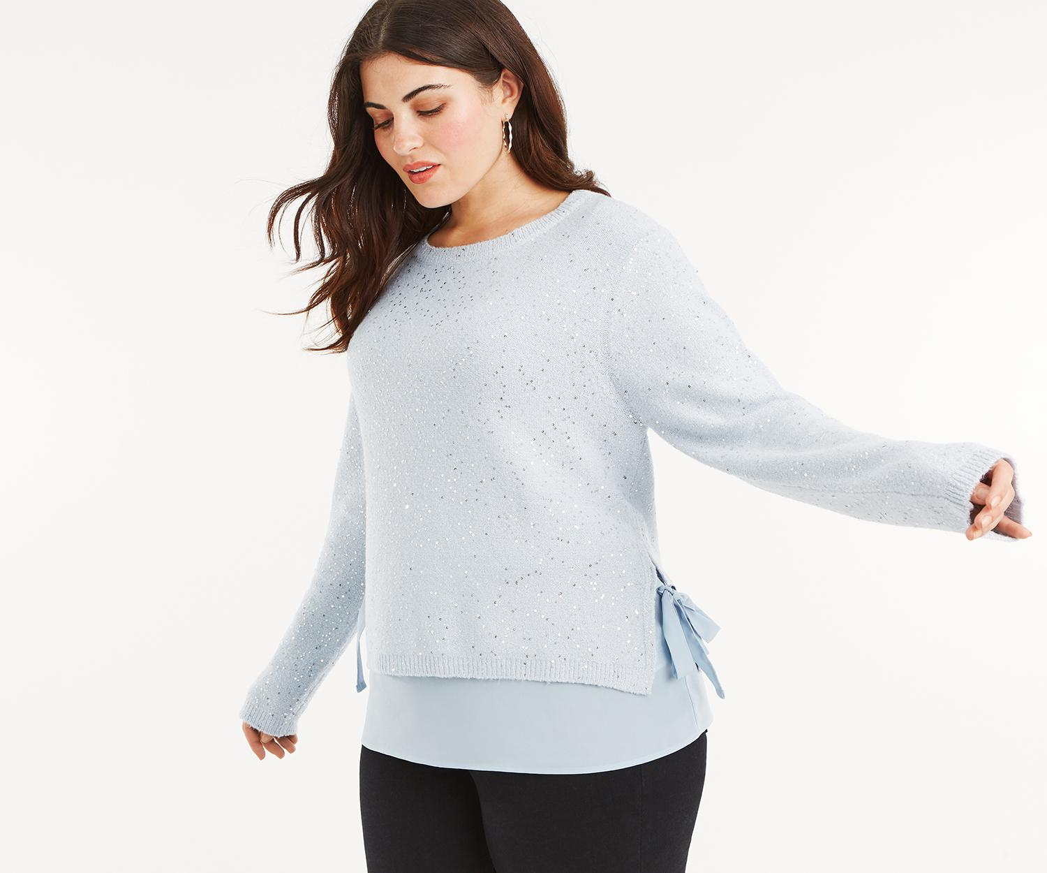 Sequin Jumper In Curve Oasis Lyst Gray w8YFffq