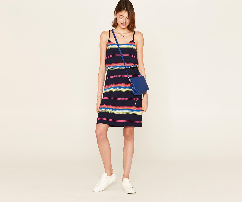 08f35d4f33bf Lyst - Oasis Long Rainbow Cami Dress in Blue