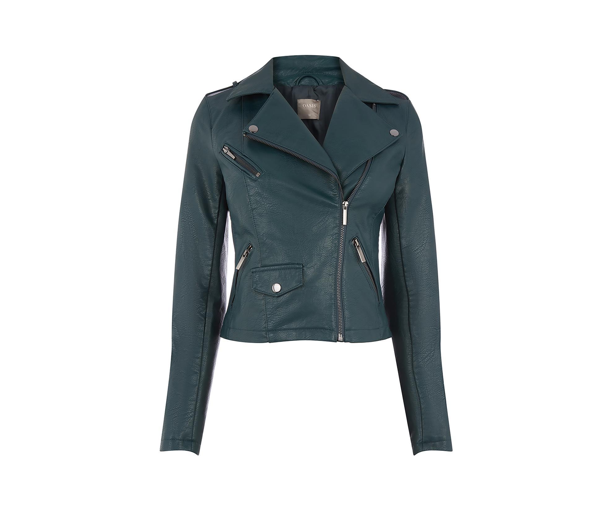 Oasis leather biker jacket