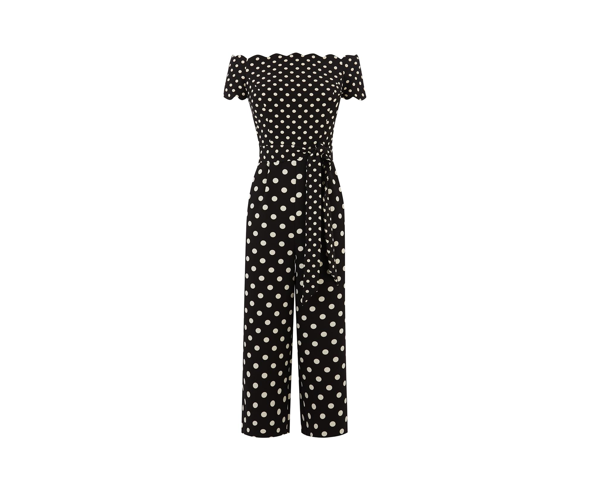 bfe054aa6c Oasis - Black Spot Patched Jumpsuit - Lyst. View fullscreen
