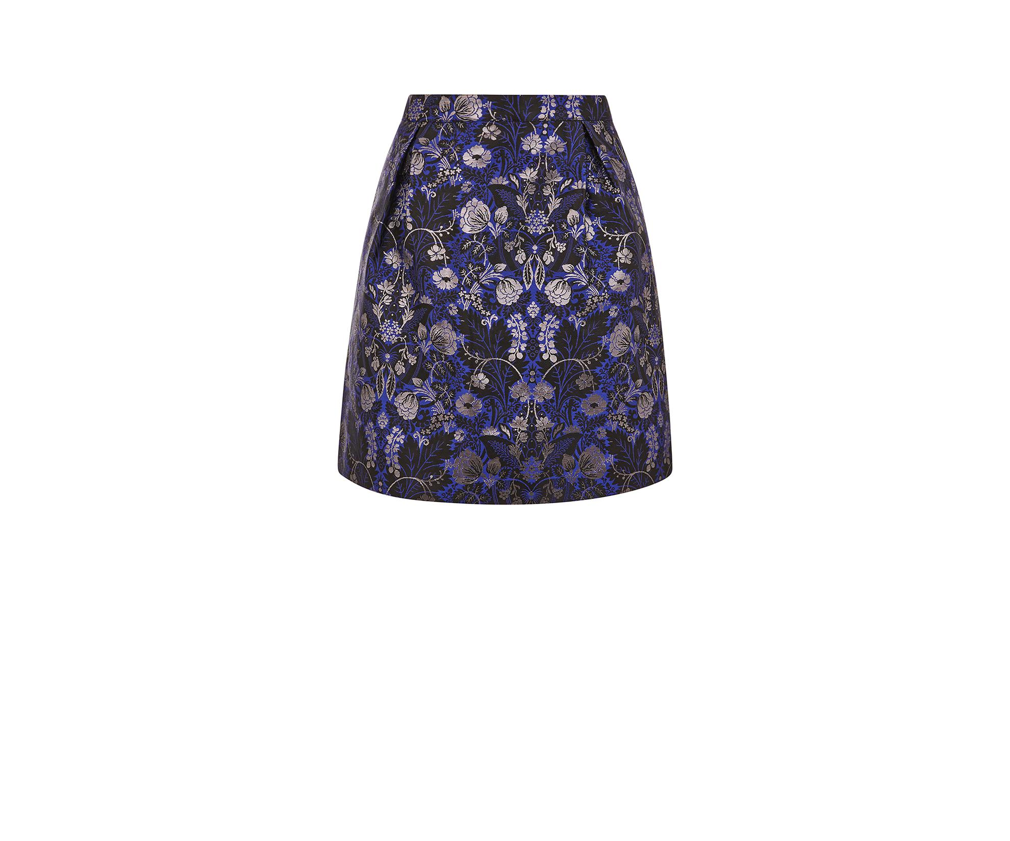 acf4ee4296d5 Oasis Marley Jacquard Mini Skirt in Blue - Lyst