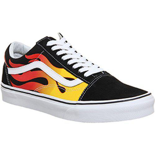 Vans Rubber Flame Old Skool Shoes in