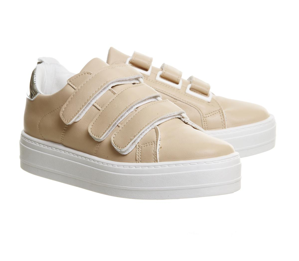 Office Synthetic Player Velcro Strap Trainers