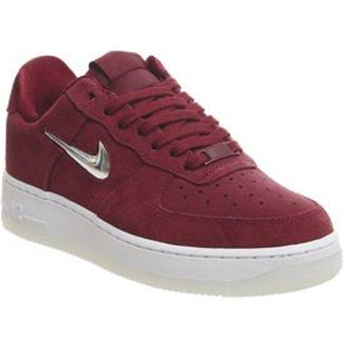 air force 1 jewel suede rouge