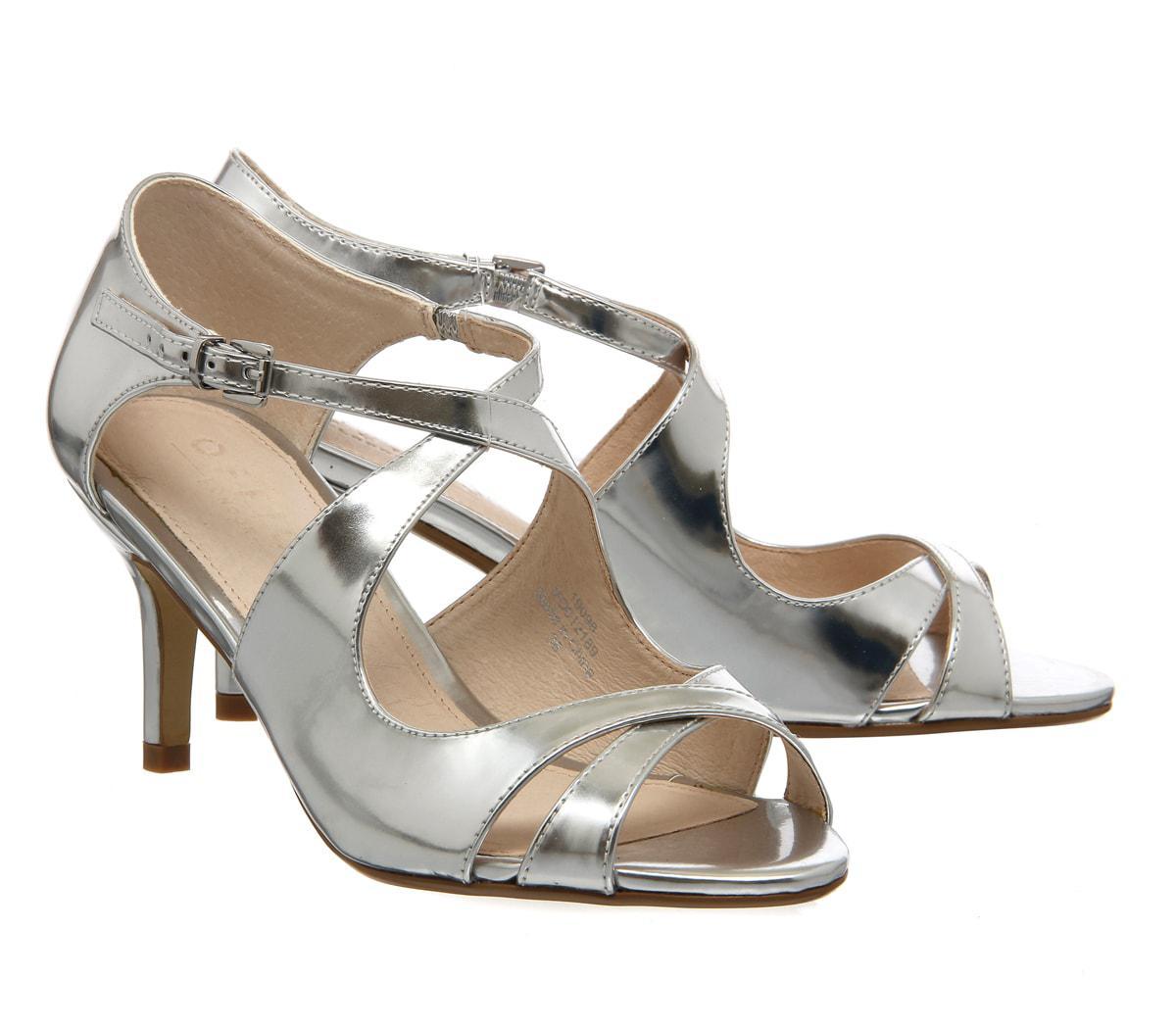 Lyst Office Windsor Cross Strap Sandal In Metallic