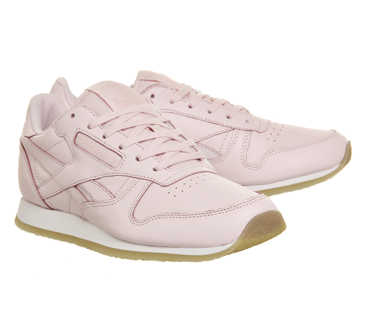 reebok classic leather w in pink porcelain lyst. Black Bedroom Furniture Sets. Home Design Ideas