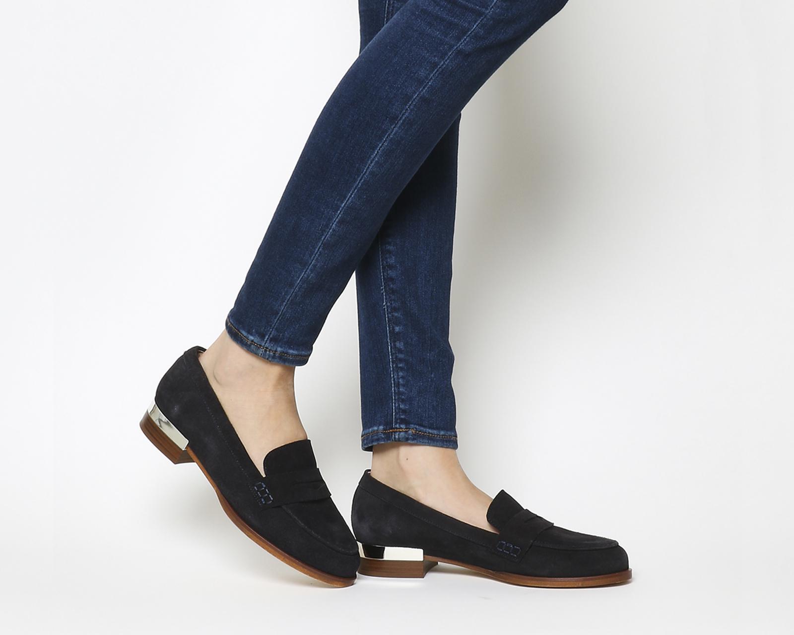 40fd71d2390f5 Office Deluxe Metal Heel Loafers in Blue - Lyst