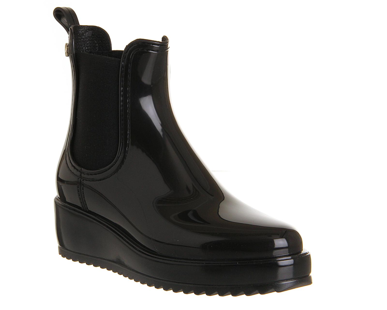 lemon jelly jelo wedge boot in black lyst