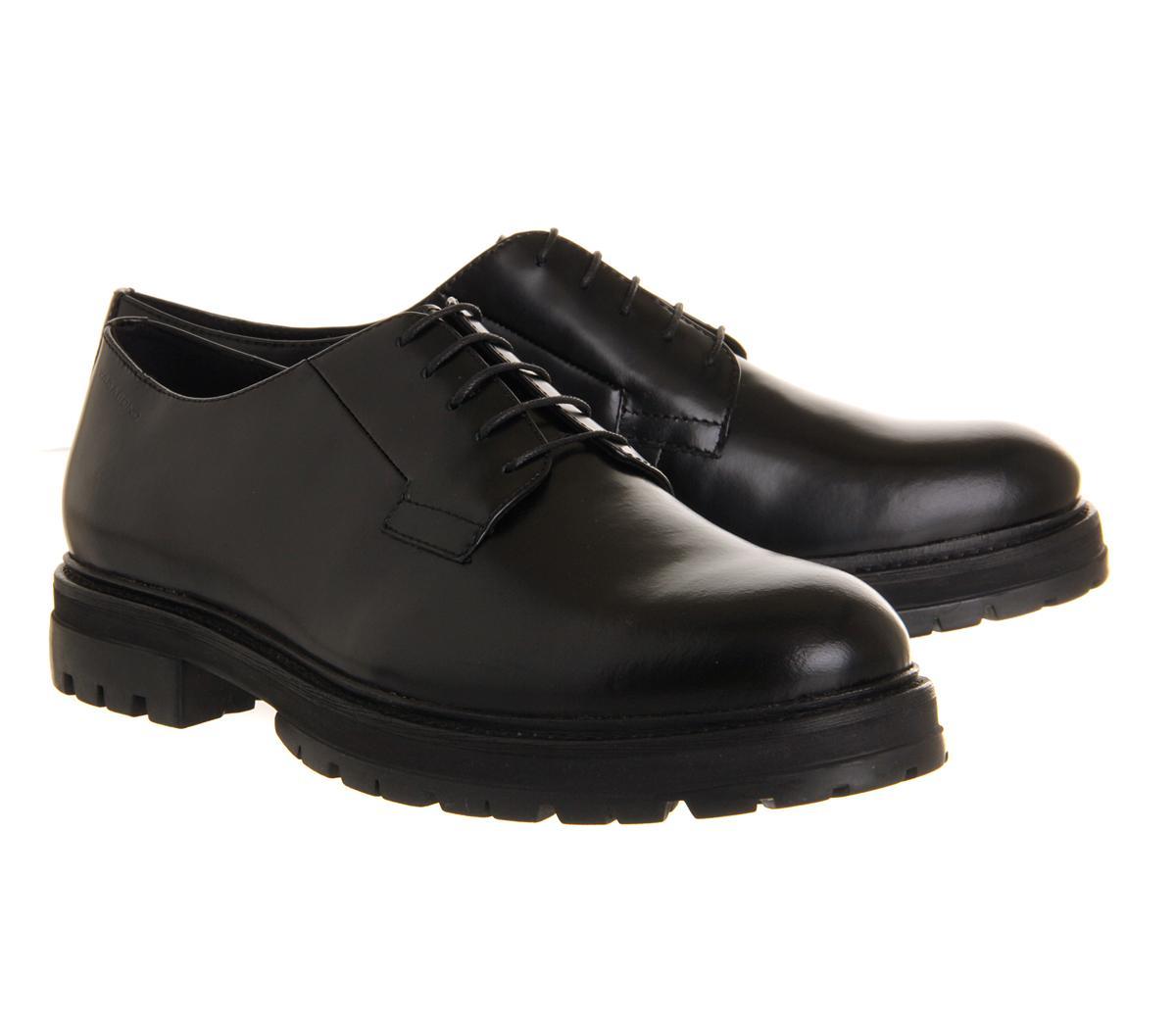 Derby Heavy Sole Shoe Mens Black
