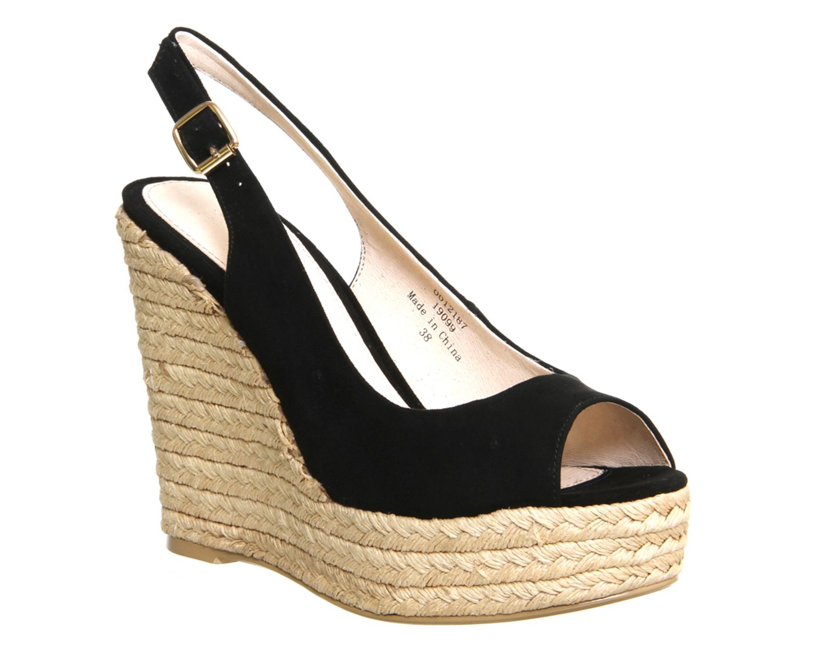 office palm slingback espadrille wedges in black lyst