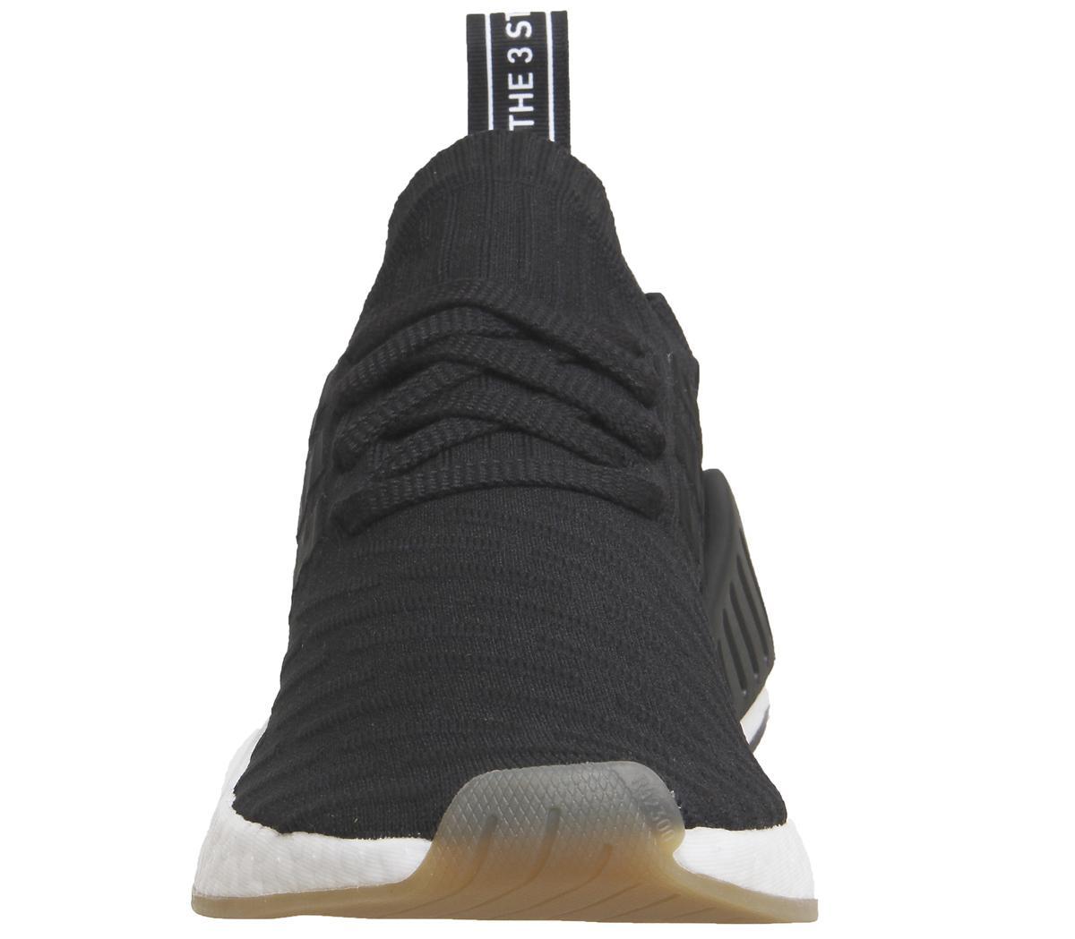 adidas nmd r2 pk trainers black white