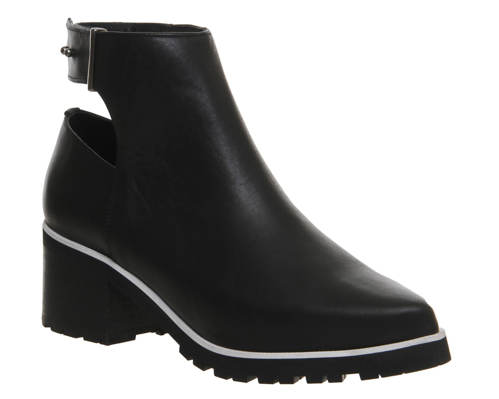 office facade open back cleated boots in black lyst