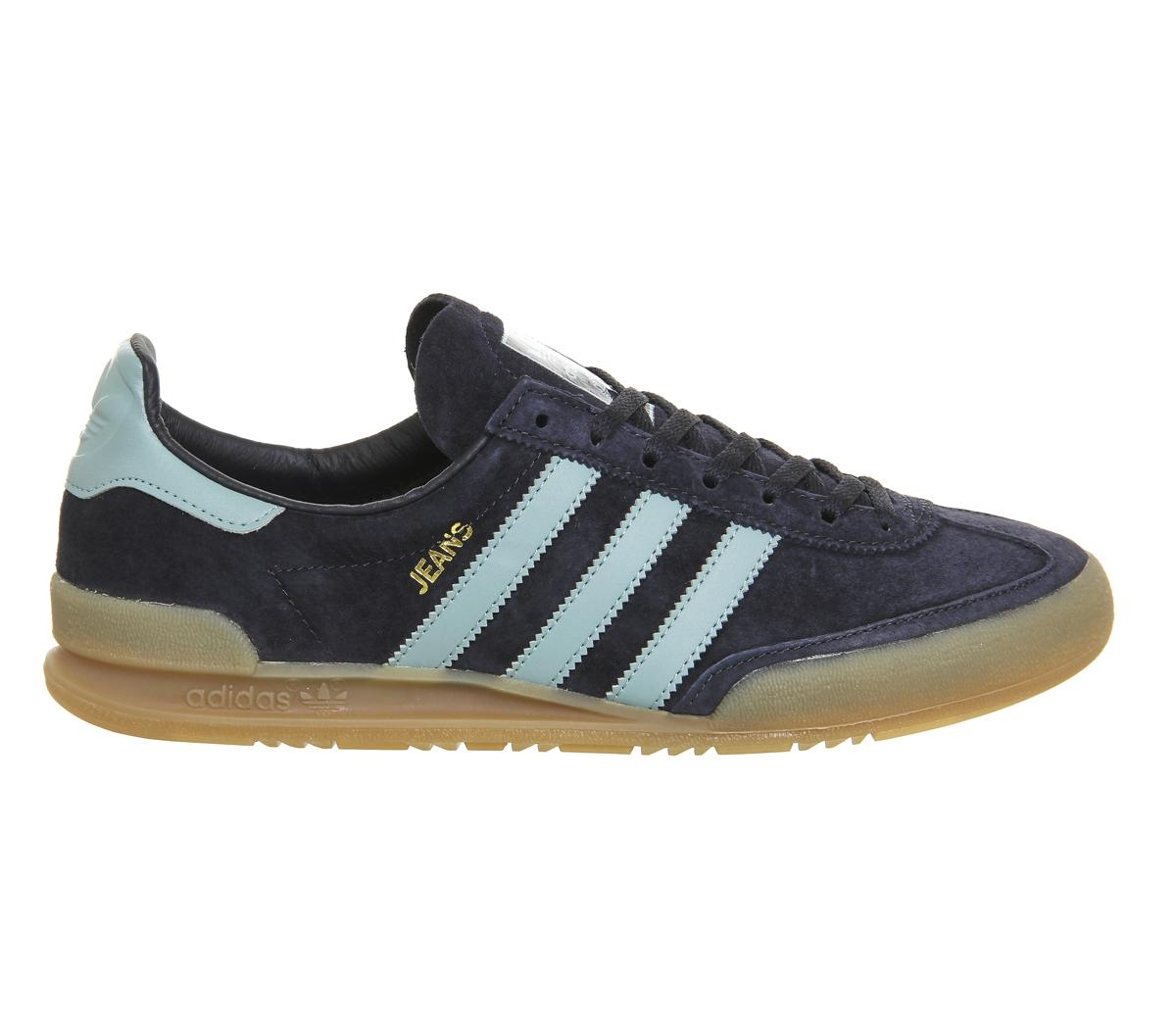 lyst adidas originals jeans trainers in blue for men