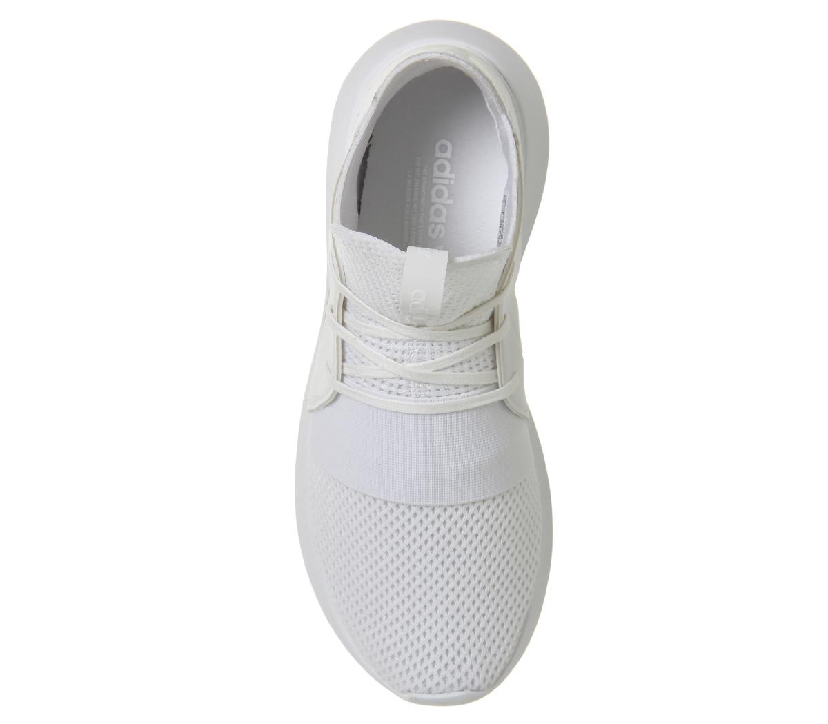 Adidas High Top Elastic Shoes All White