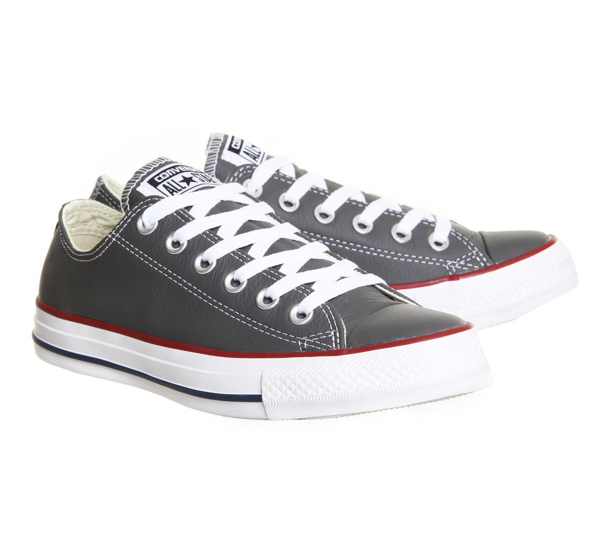 964116e07b62fb Converse All Star Low Leather in Gray