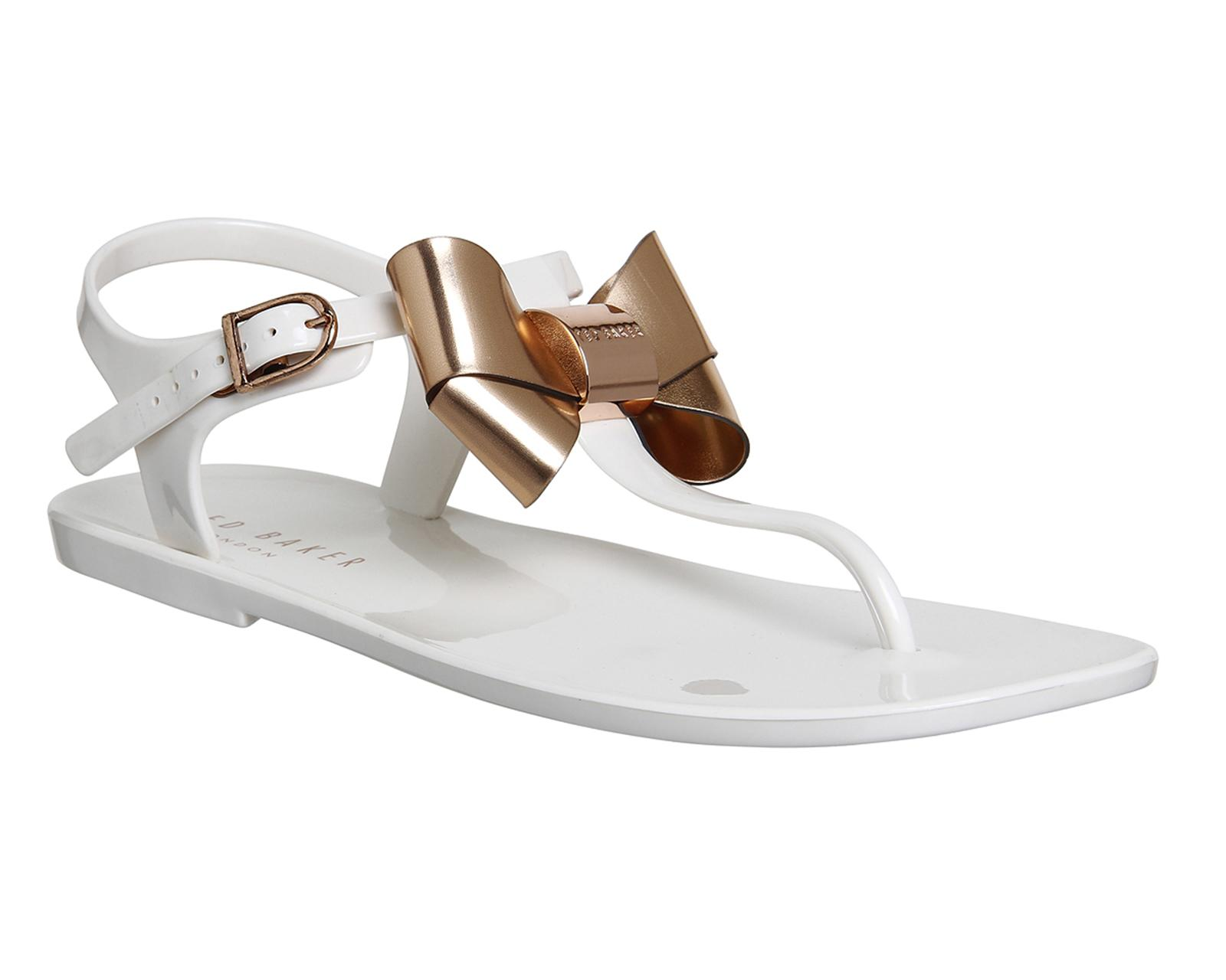 Ted Baker Verona Bow Sandals In White Lyst