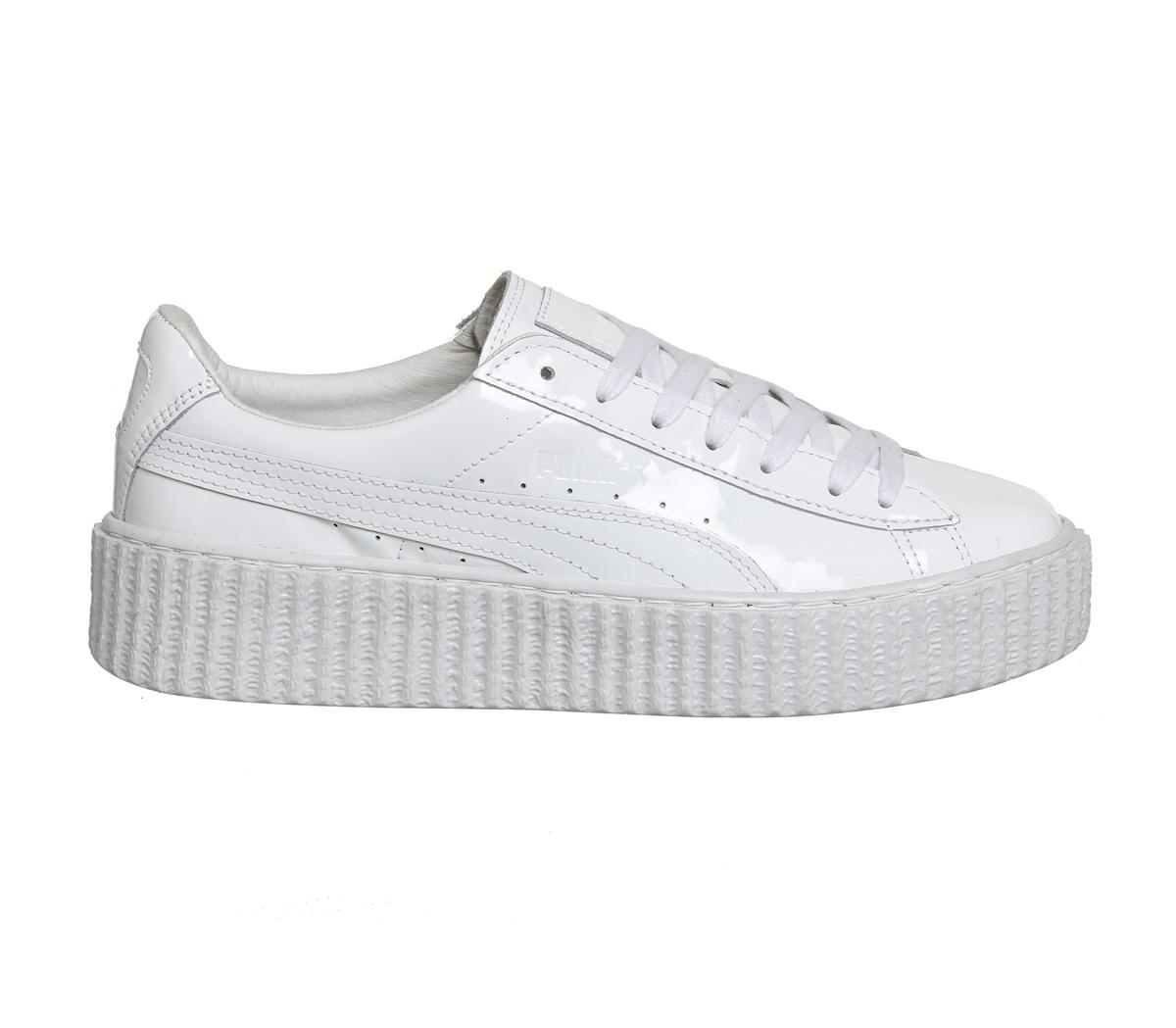 PUMA Suede Basket Creepers in White - Lyst