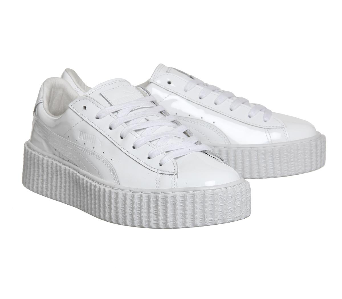 8e39d053087002 Puma Basket Creepers in White