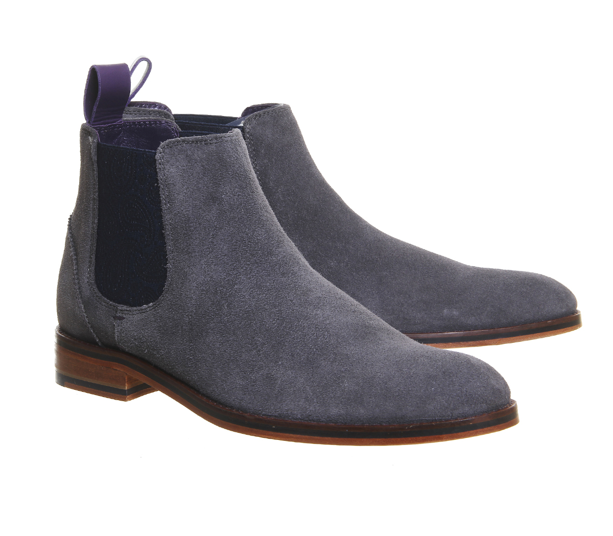 ted baker camroon 4 chelsea boots in gray for men lyst. Black Bedroom Furniture Sets. Home Design Ideas