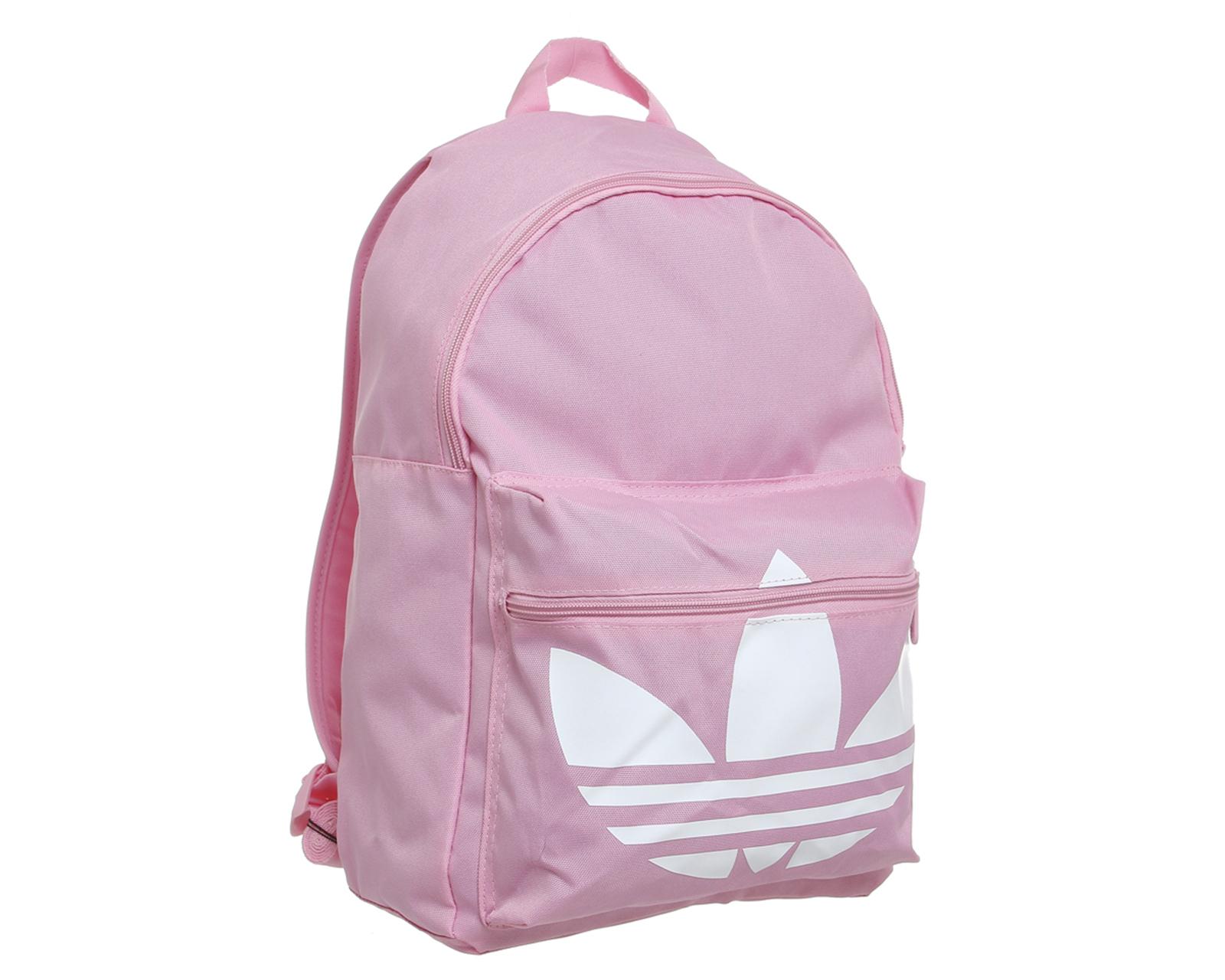 adidas originals trefoil canvas backpack in pink lyst. Black Bedroom Furniture Sets. Home Design Ideas