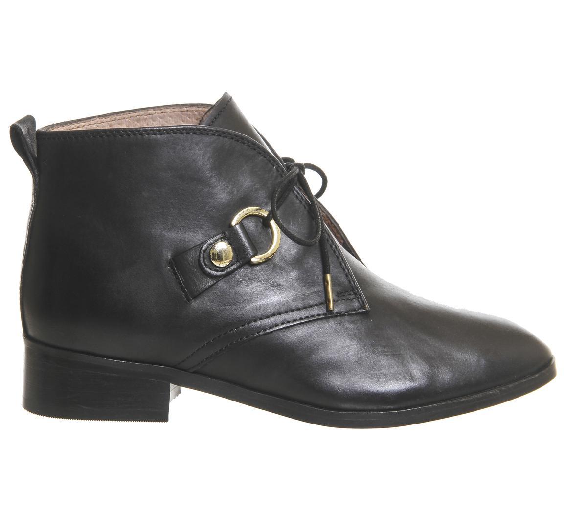 office larkin lace up flat boots in lyst