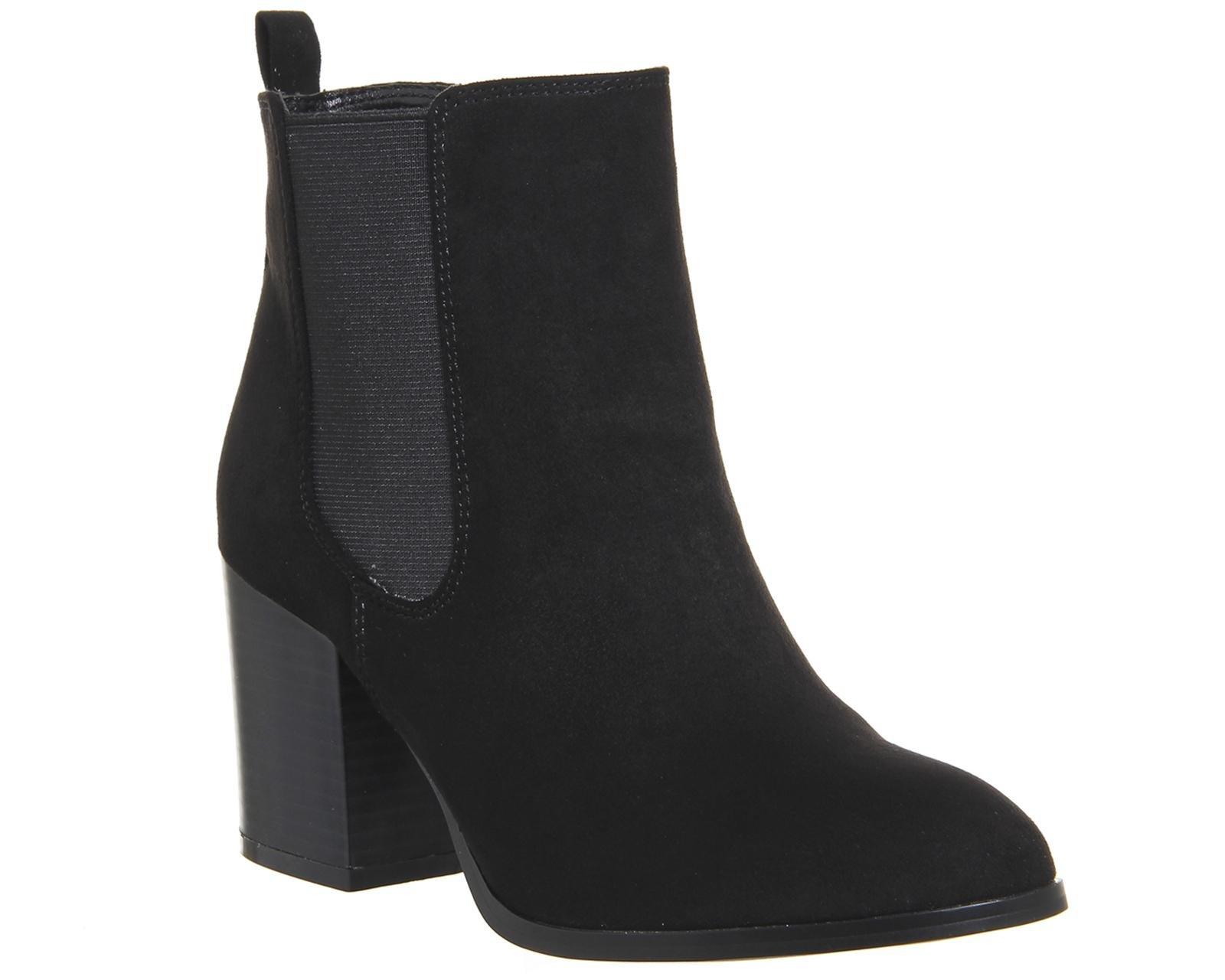 office block heel chelsea boots in black lyst