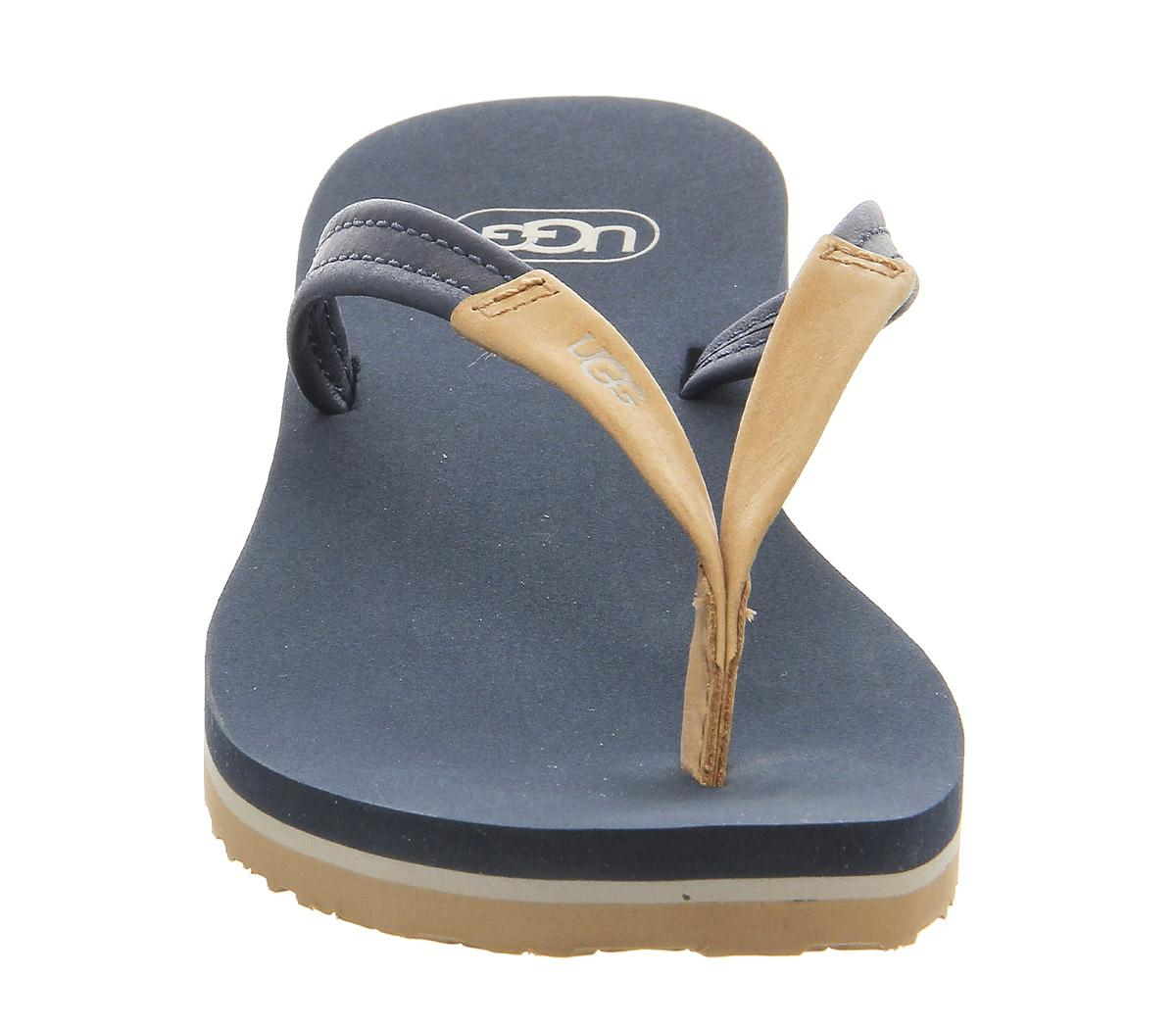 Ugg Leather Magnolia Flip Flop In Navy Blue - Lyst-4827