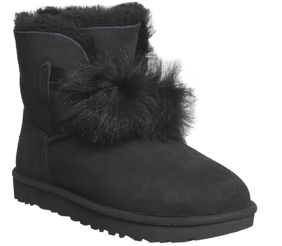 2279427252d Leather Ugg Boots With Pom Poms | MIT Hillel