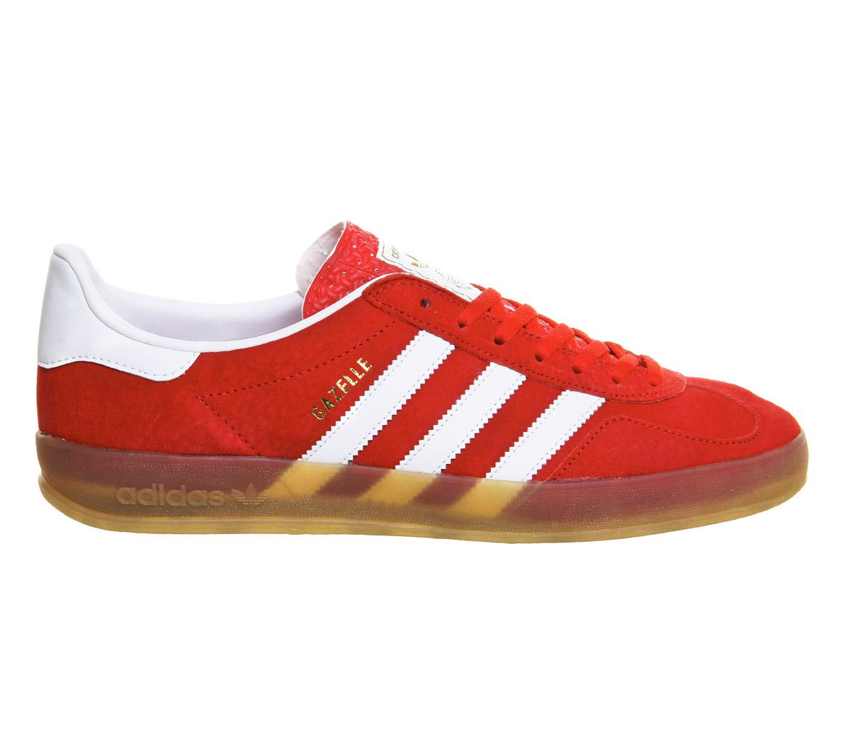 red adidas gazelle indoor trainers