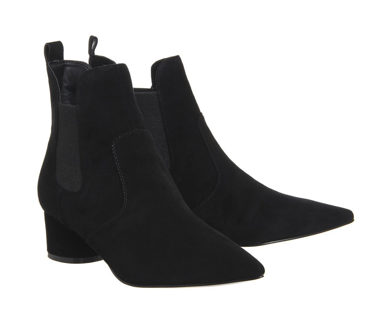 Kendall + Kylie Suede Logan Chelsea Boots in Black