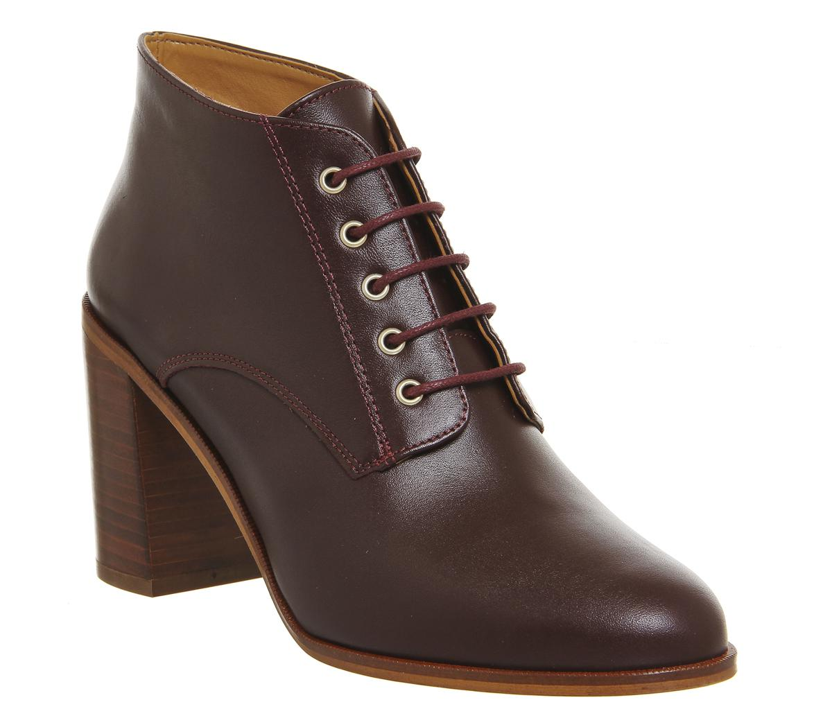 Office Leather Landgirl Lace Up Boots
