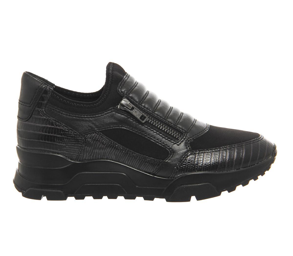 Ash Neoprene Miki Sneaker in Black
