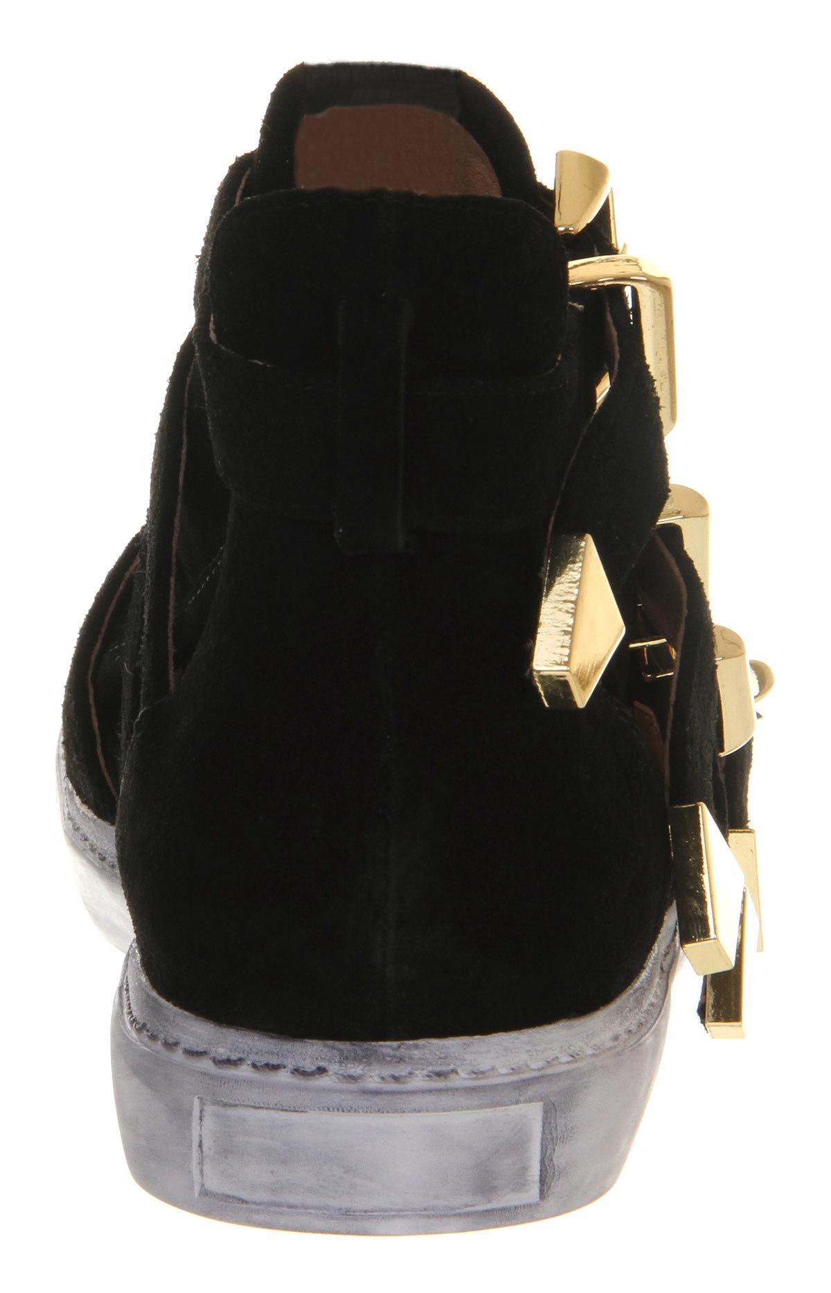 Jeffrey Campbell Indie Hi Cut Sneaker in Black