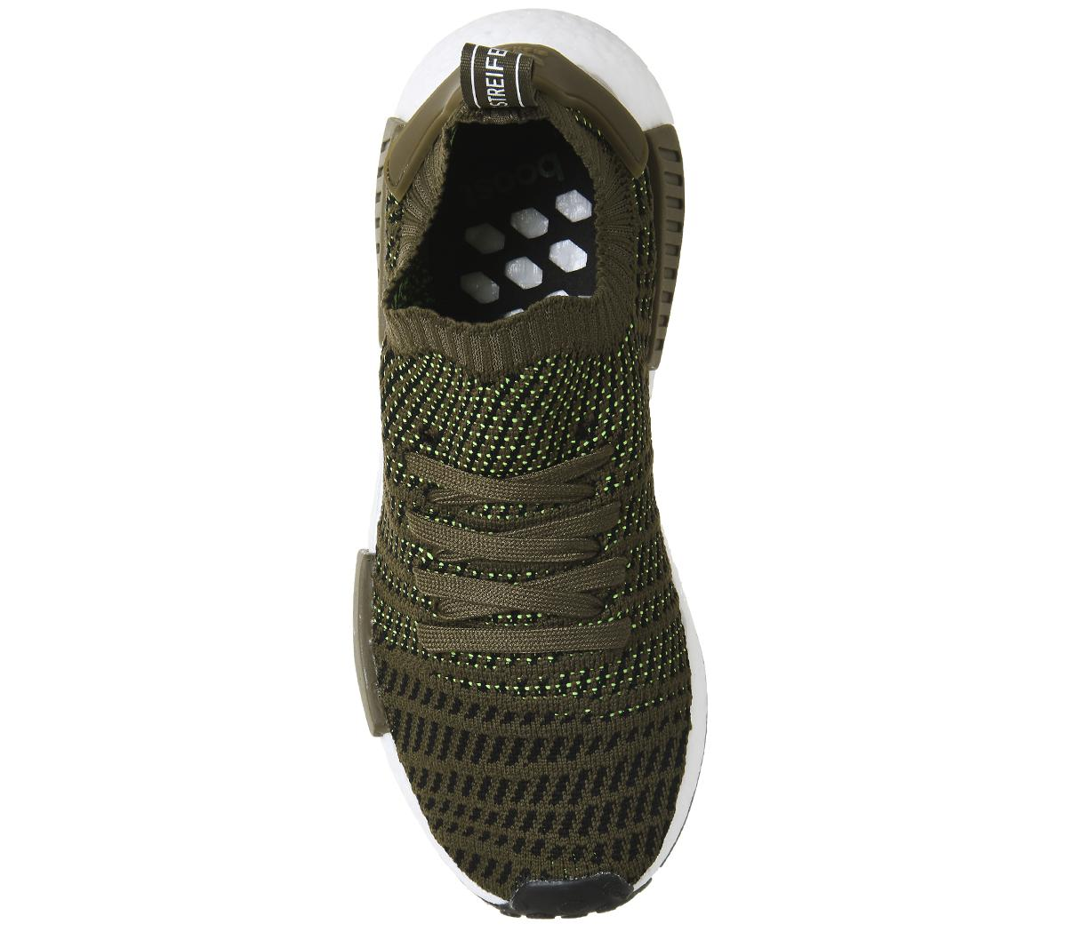 adidas Rubber Nmd R1 Prime Knit Trainers in Olive (Green) for Men