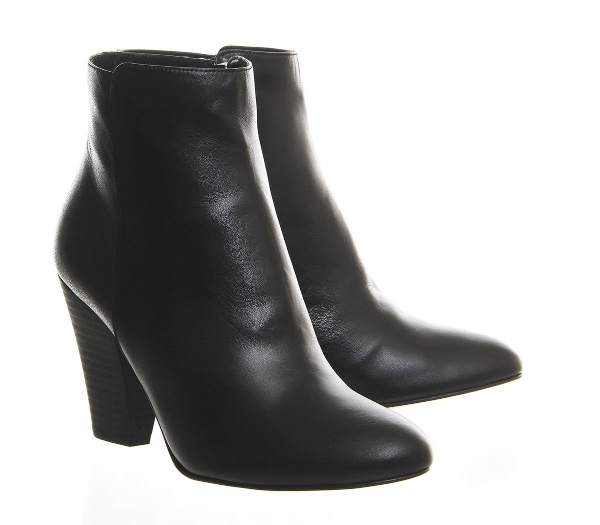 Office Leather Flawless Ankle Boots in Black