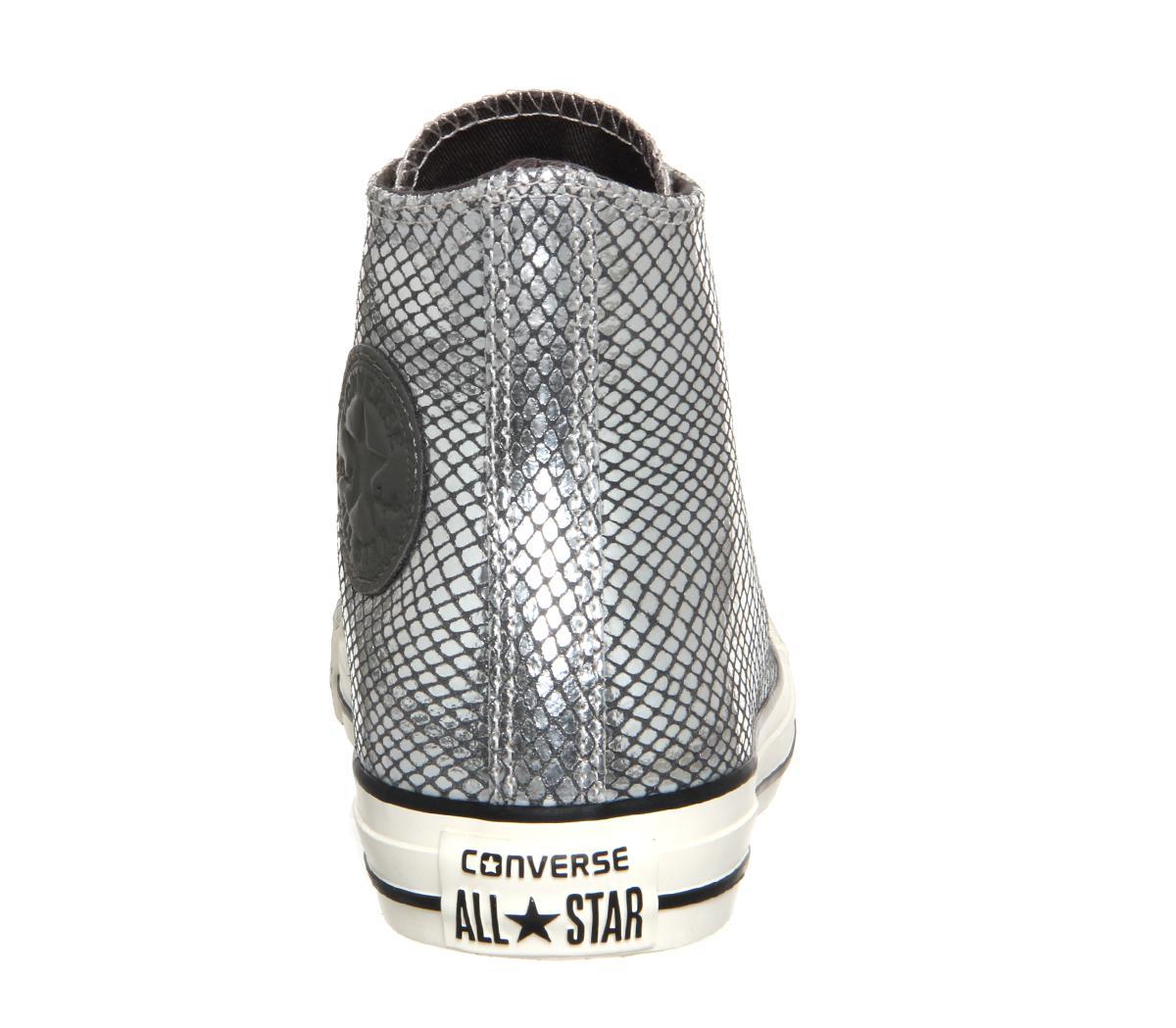 Converse Rubber All Star Hi Lthr in Grey (Grey) for Men