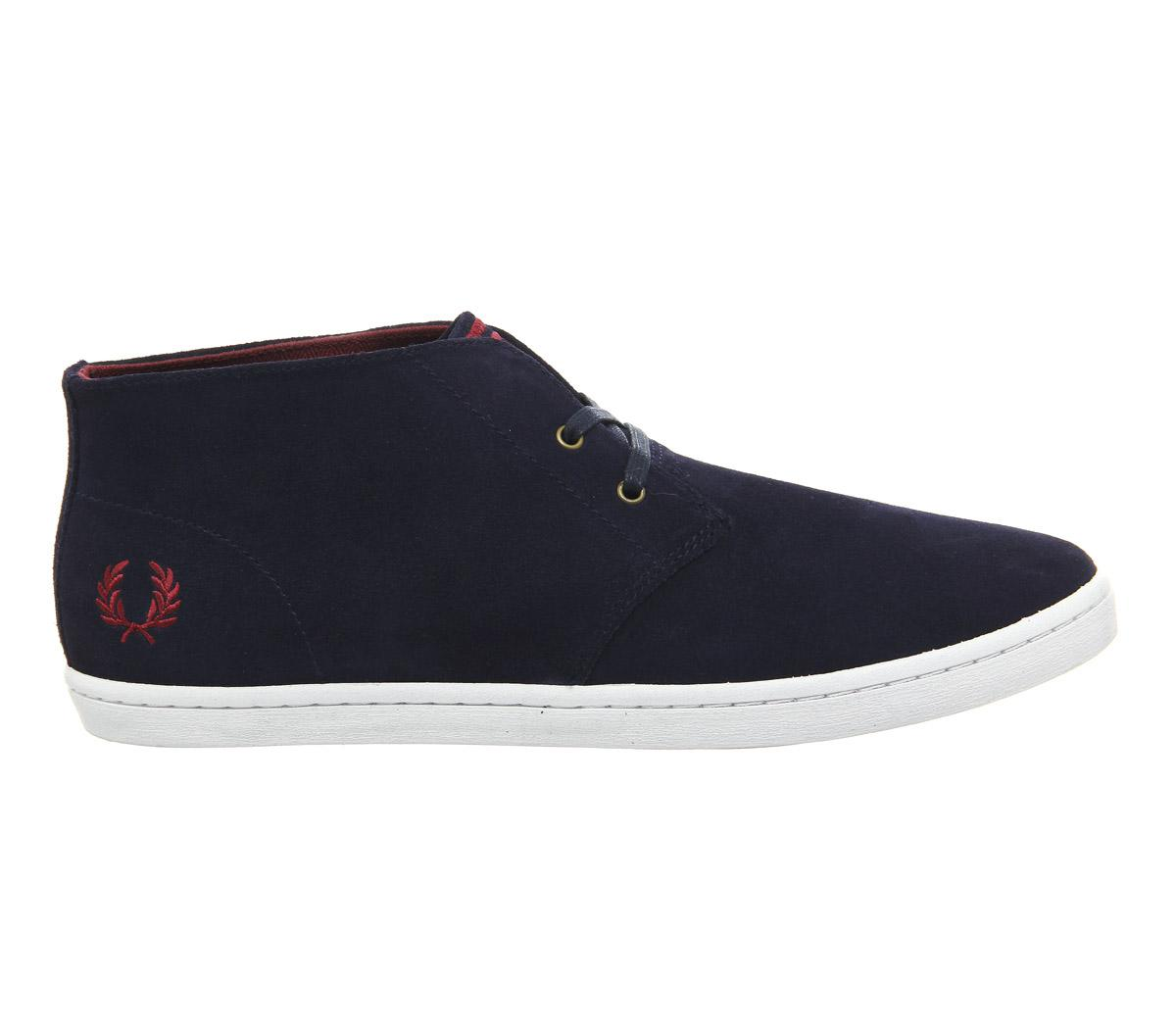 Fred Perry Byron Mid Suede in Navy Red (Blue) for Men