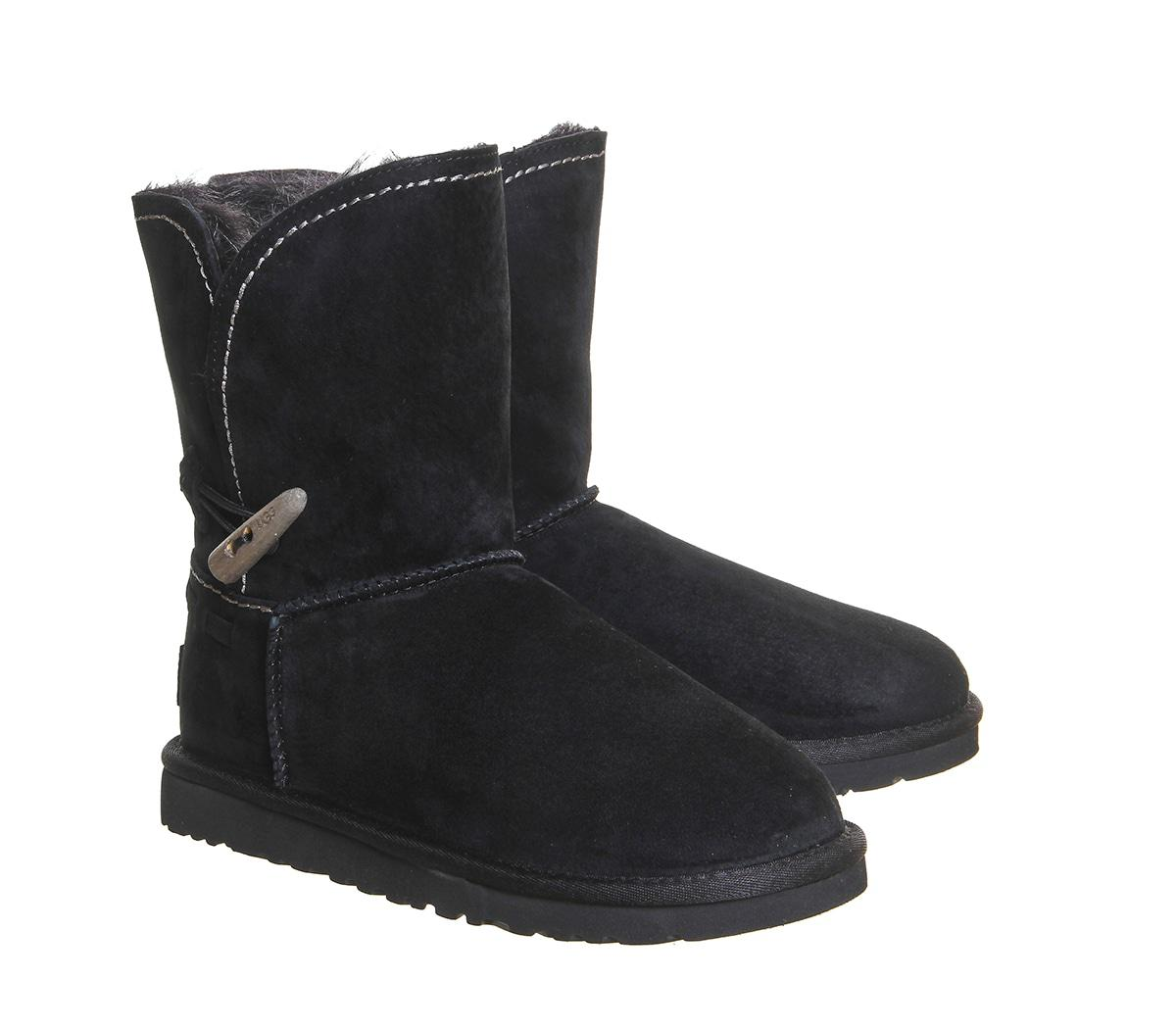 Ugg Australia Meadow Calf Womens Ankle Boots Black Suede