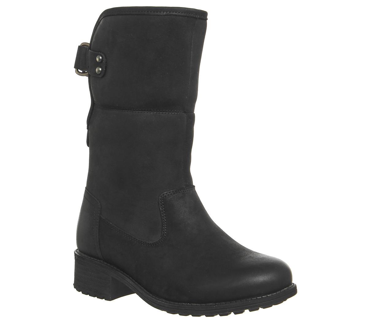 7eee4ead674 UGG Aldon Fold Down Boots in Black - Lyst
