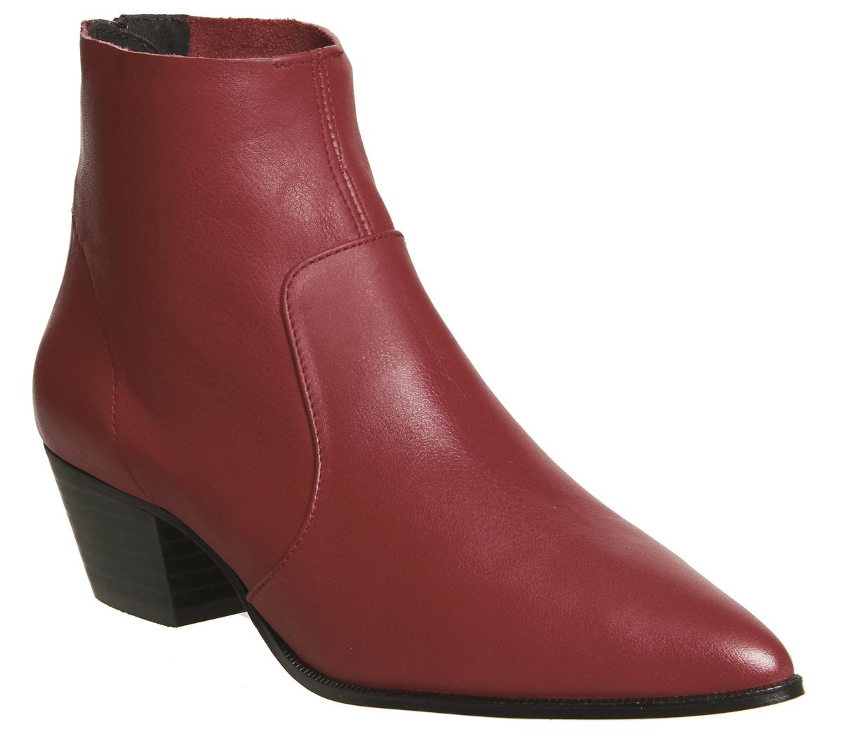 Lyst Office Arrived Unlined Western Boots In Red