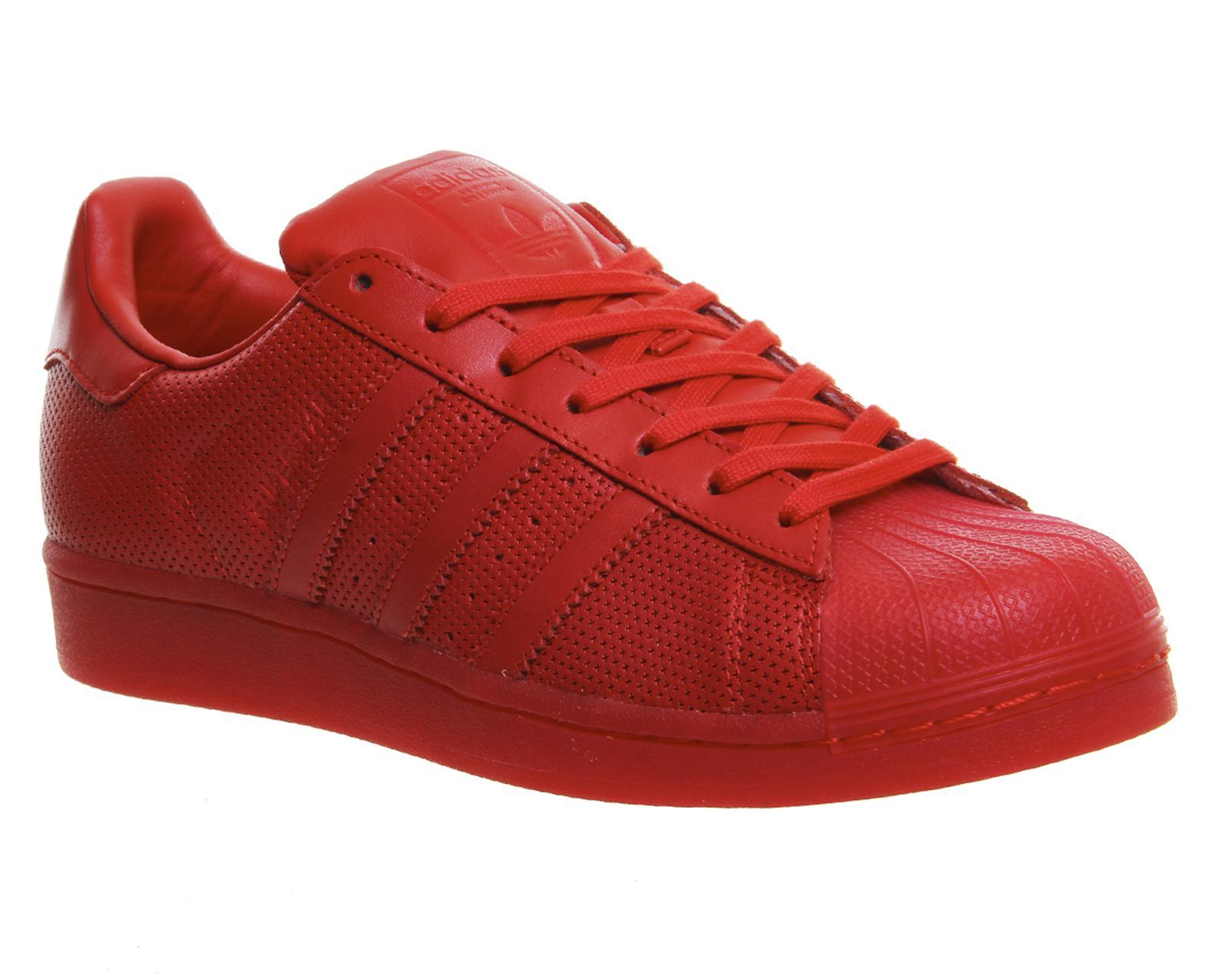 Adidas superstar s80326 adicolor formatori in rosso s80326 superstar in rosso per gli uomini lyst 1831ac