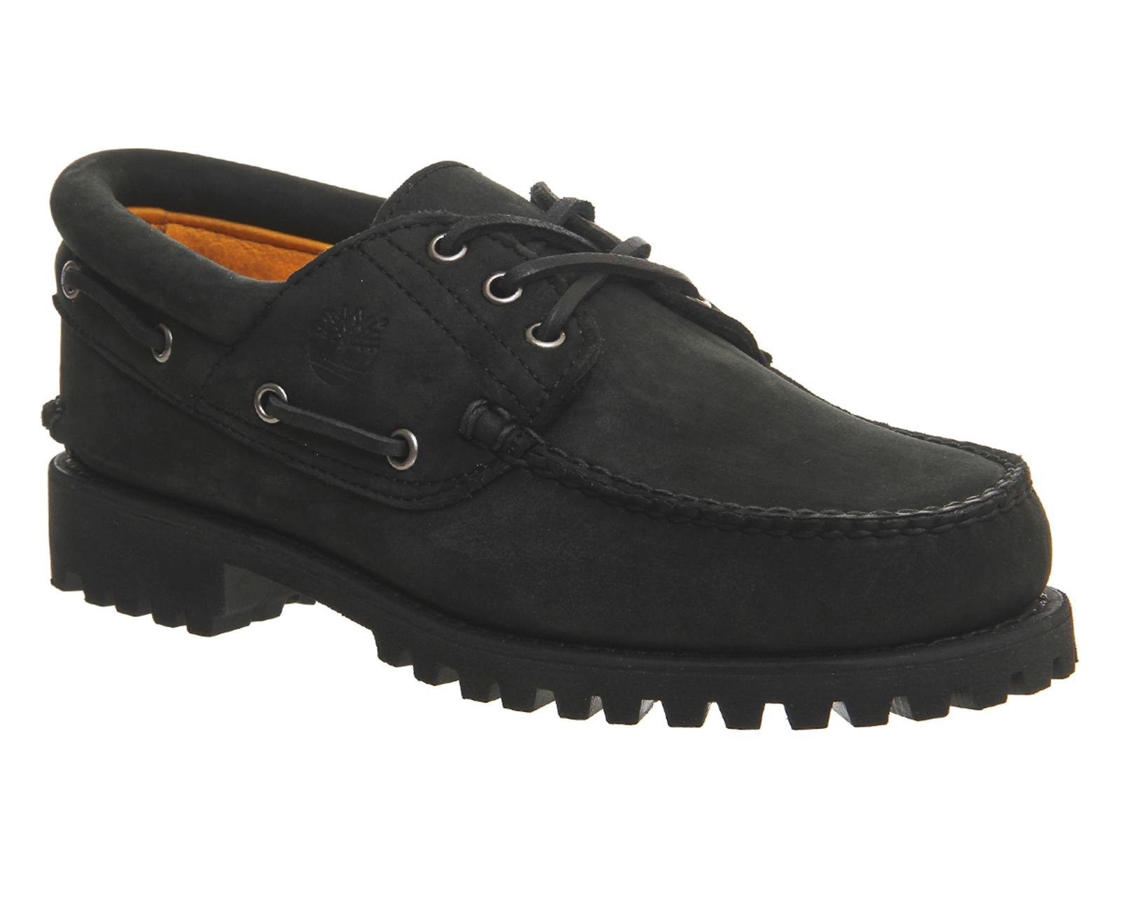 Lyst - Timberland 3 Eye Classic Lug Boat Shoes in Black for Men 1dd6ac935e5